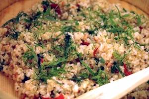梅干しと大葉の玄米ご飯